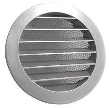 Wetterschutzgitter Lüftungsgitter Rund Aluminium mit Fliegengitter 200 mm