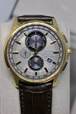 Citizen Men's Rose Gold World Time A-T Chronograph Watch AT8113-04H