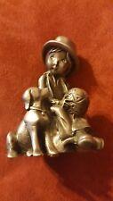 Vintage Holly Hobbie Pewter Best Friends 5079/6000 1977