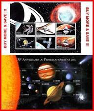 ANGOLA 1999 SPACE =APOLLO 11     x2 (two)  M/S ASTRONOMY, SOLAR SYSTEM MNH NEUF