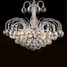 Modern 3lights LED Crystal Pendant Lamp Chandeliers Living Room Ceiling Light US