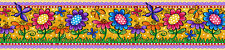 Bordüre bunte Blumen und Schmetterlinge selbstklebend ablösbar Tapeten Borte