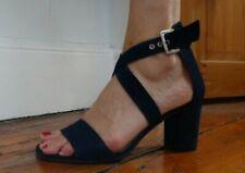 Lovely DANIEL designer formal navy suede leather mid heel sandals NEW rrp £139