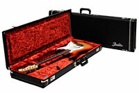 Fender Deluxe Black Hardshell Strat/Tele Case Amp Logo Orange Int