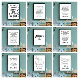 A4 HARRY POTTER PRINTS. Wall Art Poster Picture Hogwarts Kids Movie Film Quotes