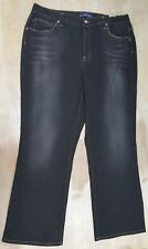 Bandolinoblu Stretch Denim Dark Wash Blue Jeans Size 16W Plus Womens NWT