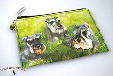 Schnauzer Dog Bag Zippered Pouch Travel Makeup Coin Purse