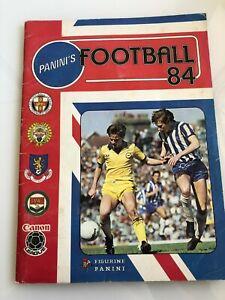 Panini Football 84 sticker album - 100% Complete