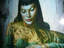TRETCHIKOFF LADY OF THE ORIENT NEW  PRINT RETRO VINTAGE FRAME