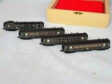 N Scale Minitrix 13184/3185/3186 Set of 3 Passenger Cars & 1 Baggage Car LIGHTED