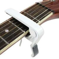 White Quick Change Tune Clamp Key Trigger Capo For Acoustic Electric Guitar GA