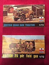 ESCI 1/72 25 PDR Field Gun e Pistola Quad trattore - * Nuovo di zecca con scatola *