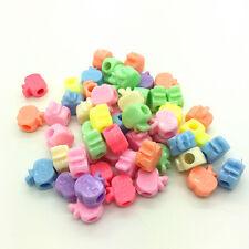 50pcs Mixed Apple Acrylic Perforation beads Children Kid DIY Jewelry Making #03