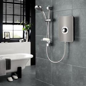 Triton Aspirante Electric Shower 8.5kW Gun Metal Modern 5 Spray ASP08GUNMTL