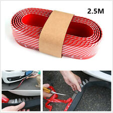 Racing Car Front Bumper Lip Splitter Body Spoiler Skirt Rubber Protector 2.5m 1x