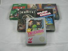 5 Custom NES Box Protectors Clear Plasitc Boxes Case for CIB Complete Sealed
