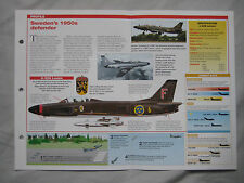 Aircraft of the World Card 49 , Group 4 - Saab 32 Lansen