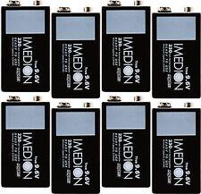 8 Pcs Powerex Imedion Maha 9V 9.6V 230mAh Rechargeable NiMH Batteries