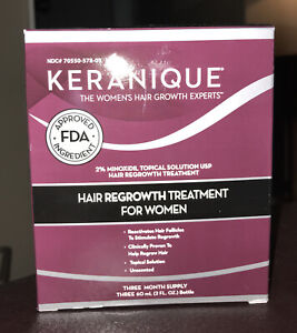 Keranique Hair Regrowth Treatment for Women, 3 Month Supply, Brand New, Sealed