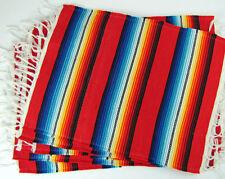 """#239 Placemat Sarape Wholesale 13""""x19"""" Reversible Mexico Fiesta Party Four Set"""