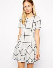 ASOS Warehouse Check Jacquard Flippy Dress Size 10 BNWT