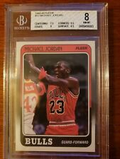 1988 FLEER BASKETBALL #17 MICHAEL JORDAN BGS 8 NM-MT *3rd Year* CHICAGO BULLS