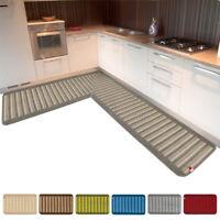 Tappeto cucina bagno angolare o passatoia su misura al metro bordata mod.SELENE