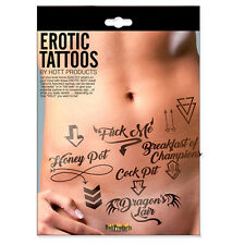 Adult Erotic Tattoos Assorted Pack FREE SHIPPING