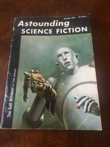 Astounding Science Fiction Oct. 1953 - Kelly Freas cover art recreated for Queen