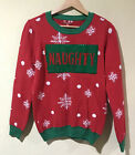 To Be Jolly Women Ugly Christmas Holiday Sweater Flip Sequin Naughty Nice XL y4