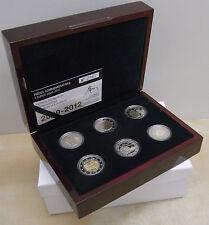 Luxemburg 6 X 2€ 2009 - 2012 in PROOF
