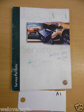 MGF Assistance Service Warranty  Book as Pictured  book A1