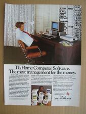 1983 Texas Instruments - The Home Computer Software AD