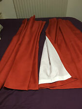 Static Caravan Curtains,B/N full lounge set .Terracotta crepe lined,10 curtains