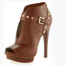 Michael Kors Ailee Walnut Ankle Boots 9.5   EUC!!!!!!