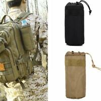 Outdoor Tactical Water Bottle Kettle Bag Military Molle  Sleeve Pouch Holder Bag