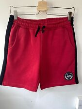 Hype boys red and black sweat shorts with pockets & logo age 13