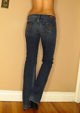RARE Paige Benedict Canyon Bootcut Jeans in Meridian Dark Stud Pkt 31 Fits 30