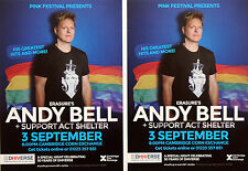 ANDY BELL DHIVERSE 2016 CONCERT FLYERS X 2