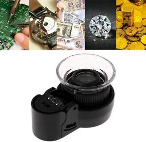 Lente per gioielli 45x orologi orologiaio orefice miniature Luce LED e UV ingran