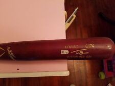 game used cracked bat Travis Shaw Red Sox 2016 Brewers