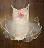 GIRLS AGE 1-2 YEARS WHITE/PINK BALLET DRESSING UP PARTY/HOLIDAY/ELSA/SCHOOL/BABY