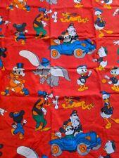VTG 60s 70s Disney Curtain Sheet Fabric Mickey Minnie Daisy Goofy Donald Dumbo 3