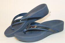 Vionic High Tide Womens 10 42 Blue Platform Flip Flops Sandals Flats Shoes