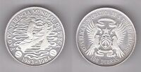 ST TOME PRINCIPE THOMAS -SILVER 100 DOBRAS UNC COIN 1984 YEAR KM#41a FAO FISHING