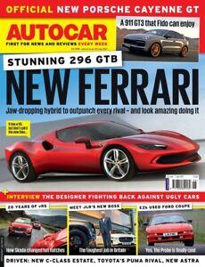 AUTOCAR MAGAZINE 30 JUNE/ 7 JULY 2021 (NEW FERRARI 296 GTB, CAYENNE GT, 911 GT3)