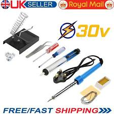 14 in 1 110V Electric Soldering Iron Kit 30W Tool Set Stand Desoldering Pump UK