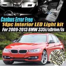 14Pc Error Free Interior LED White Light Kit for 2009-2013 BMW 335i/is/xDrive