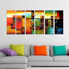 Large Abstract Oil Canvas Art Painting, Framed, Ready to hang, Fast Shipping 263
