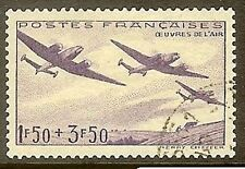"FRANCE TIMBRE STAMP N° 540 "" OEUVRES DE L'AIR , AVION "" OBLITERE TB"